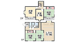 [一戸建] 兵庫県川西市大和西1丁目 の賃貸【/】の間取り