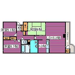 ロジェ栄町II[6階]の間取り