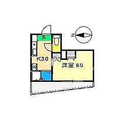 ベルジュール[2階]の間取り