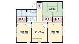 ハウスM21[102号室]の間取り