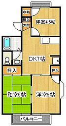 セジュール石井[1階]の間取り