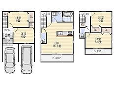 プラン図(建物面積100m2、建物価格1500万円)