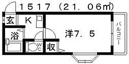 杉村ハイツIII[403号室号室]の間取り