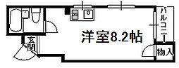 大阪府大阪市阿倍野区桃ケ池町2丁目の賃貸マンションの間取り