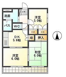 ユペンディ・ハウス[2階]の間取り