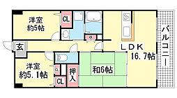 ルモン・クレール北鈴蘭台[7階]の間取り