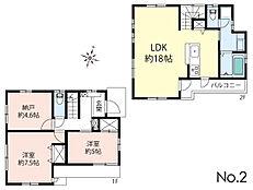 2号区参考プラン/建物面積:82.81m2、建物価格:1387.8万円