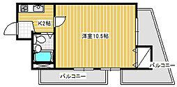 ライオンズマンション川崎駅前[5階]の間取り