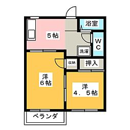 タウニー矢田[2階]の間取り