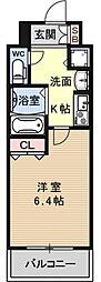 プレサンス京都四条烏丸クロス[1F号室号室]の間取り