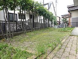 南向きのお庭は家庭菜園をしたり、BBQをすることのできる広さです。立水栓もあるので便利ですね。
