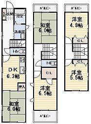 [一戸建] 大阪府守口市日吉町2丁目 の賃貸【/】の間取り