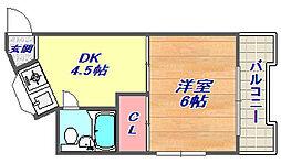 岸田ハイツ[304号室]の間取り