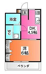 シャイン王子神谷[2階]の間取り