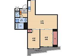 アメニティ福島[9階]の間取り