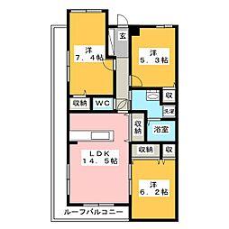 メゾン・ドゥ・アンダルシア[3階]の間取り
