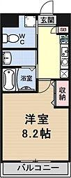 コーポ伊藤[203号室号室]の間取り