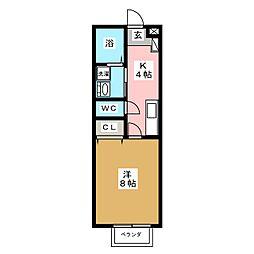 レクール大江[2階]の間取り