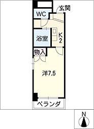ベース345[6階]の間取り