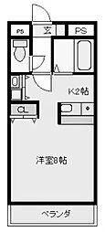 光南コスモセブン[2階]の間取り
