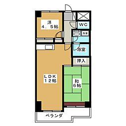 セントラルグリーンマンション[7階]の間取り