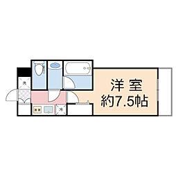 セレニテ日本橋プリエ 8階1Kの間取り
