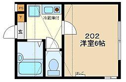 アビタシオン西橋本[202号室]の間取り