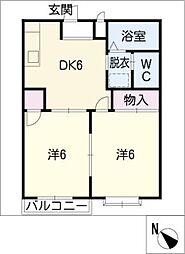 エルディム新栄[2階]の間取り