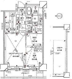 東武伊勢崎線 曳舟駅 徒歩3分の賃貸マンション 2階1LDKの間取り