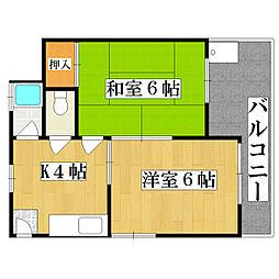 ヨドガワエステートビル[4階]の間取り