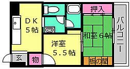 大浜TKハイツ[2E号室]の間取り