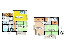 [一戸建] 東京都府中市住吉町1丁目 の賃貸【/】の間取り