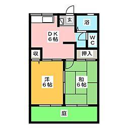 スクールサイドB棟[1階]の間取り