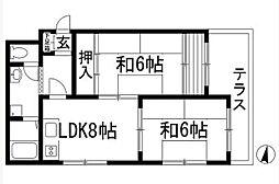 コーポサニープレース[3階]の間取り
