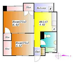 東洋ビル[4階]の間取り
