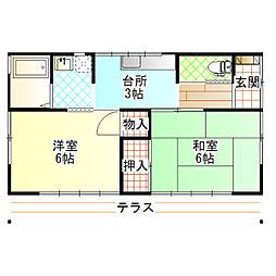 [一戸建] 神奈川県小田原市東町3丁目 の賃貸【/】の間取り
