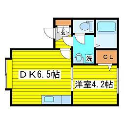 北海道札幌市東区北十条東9丁目の賃貸アパートの間取り