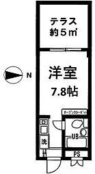 高円寺ヴィレッジ[1階]の間取り