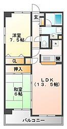 フォンティーヌ江坂[3階]の間取り