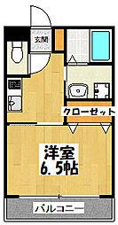 大阪府東大阪市森河内西2丁目の賃貸アパートの間取り