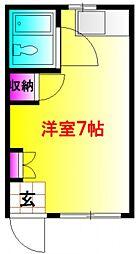 メゾン藤原天神B[1階]の間取り