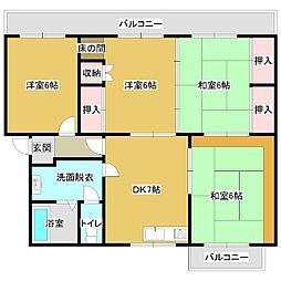 第2高橋マンション[4DK号室]の間取り