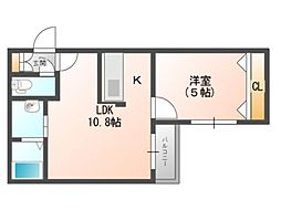 maison de fleur(メゾンドフルール) 4階1LDKの間取り