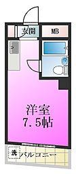 アパートメントナカジマ[2階]の間取り