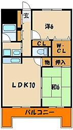 サウスビラITO[4階]の間取り