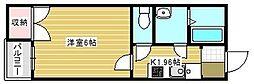 クレイノプランセル 華[1階]の間取り