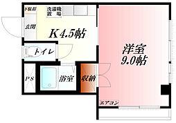 KAWATAハイツII  都市ガス[3階]の間取り
