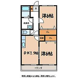 アーバンN・K A棟[1階]の間取り