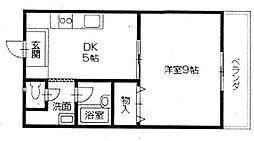 香川県高松市旅篭町の賃貸マンションの間取り