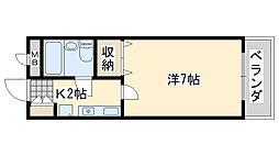 大阪府貝塚市小瀬の賃貸マンションの間取り